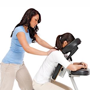 Terapeuta fazendo Quick Massage