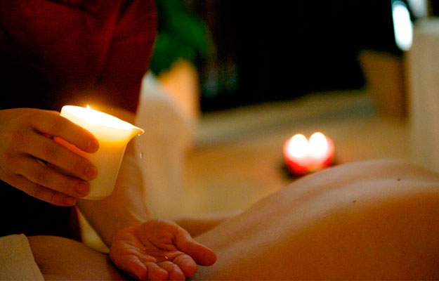 Massagem com velas